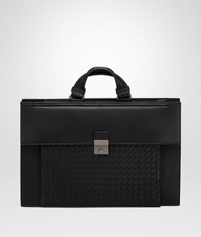 Bottega Veneta Nero Nappa Briefcase