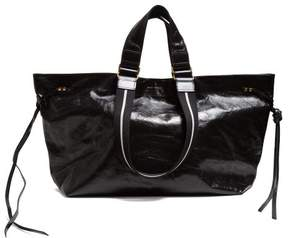 Isabel Marant Wardy Patent Leather Tote Bag - Womens - Black