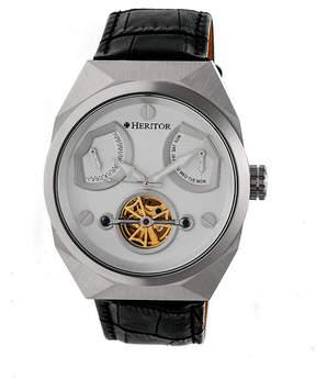 Heritor Oxford Mens Black Strap Watch-Herhr5501
