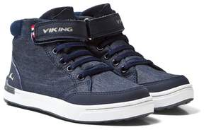 Viking Navy/White Mark MID Trainers