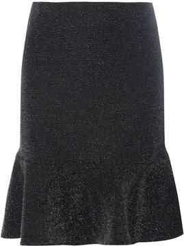 Dorothy Perkins **Tall Black Shimmer Peplum Hem Skirt