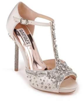 Badgley Mischka Stacey Crystal Embellished T-Strap Sandal