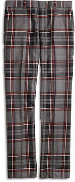 Brooks Brothers Flat-Front Plaid Wool Suit Trousers