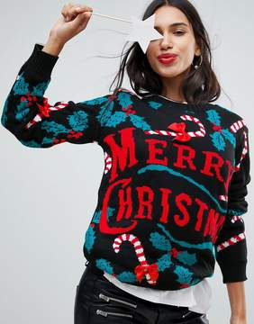 Club L Happy Holidays 3D Candy Cane Sweater