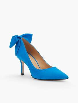 Talbots Erica Back-Bow Suede Pump