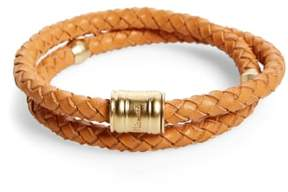 Miansai Men's Braided Leather Bracelet