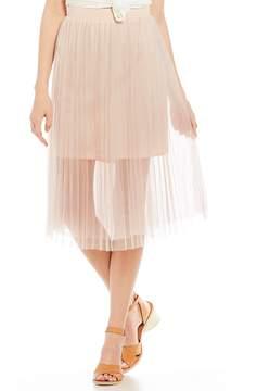 Chelsea & Violet C&V Pleated Midi Skirt