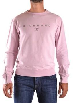 Richmond Men's Pink Cotton Sweatshirt.