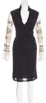 Christian Lacroix Silk Knee-Length Dress w/ Tags