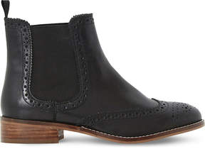 Dune Brogue leather chelsea boots