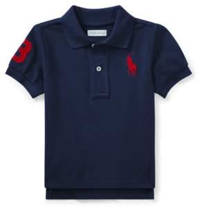 Ralph Lauren | Cotton Mesh Polo Shirt | 18-24 months | Newport navy