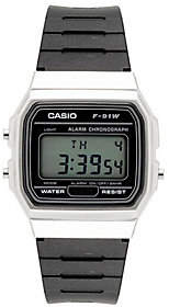 Casio Men's Black and Silver Digital Watch