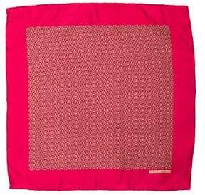 Hermes Silk Printed Pocket Square
