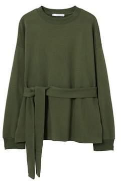 MANGO Drawstring waist sweatshirt