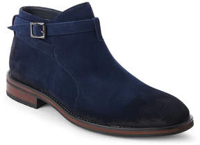 English Laundry Navy Suede Formby Buckle Boots