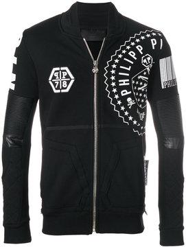Philipp Plein printed zipped jacket