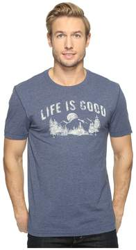 Life is Good Mountains Cool Tee