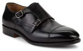 Salvatore Ferragamo Monk Strap Leather Oxfords