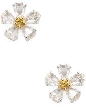 Amrapali Women's 14k Yellow Gold and Diamond Floral Studs