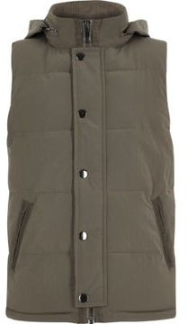 River Island Boys khaki puffer vest