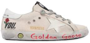 Golden Goose Deluxe Brand Super Star You Printed Canvas Sneakers