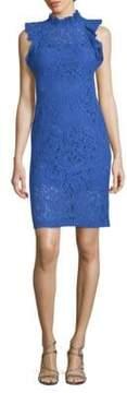Alexia Admor Floral Ruffle Midi Dress