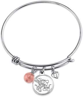 Disney Sterling Silver All We Need Mickey Mouse Expandable Bangle Bracelet