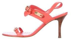 Celine Embossed Ankle Strap Sandals
