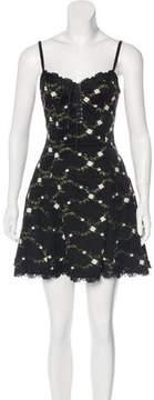 Betsey Johnson Embroidered Mini Dress