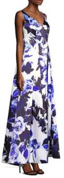Aidan Mattox Floral Sleeveless Gown