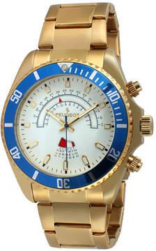 Peugeot Mens Gold-Tone Circular Bracelet Watch 1048G