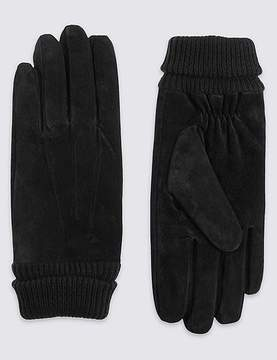 Marks and Spencer Suede Cuff Gloves with ThinsulateTM