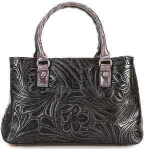 Patricia Nash Tobacco Fields Collection Angela Metallic Satchel