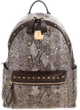 MCM Muchen Embossed Amour Backpack