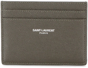 Saint Laurent classic green grained cardholder - GREEN - STYLE