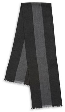 Black & Brown Black Brown Two-Tone Striped Scarf