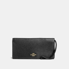 COACH Coach Slim Wallet - LIGHT GOLD/BLACK - STYLE