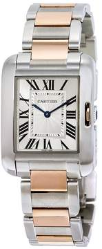 Cartier Tank Anglaise Silvered Flinque Dial Men's Watch