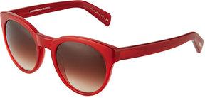 Oliver Peoples Alivia Round Plastic Sunglasses, Red