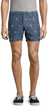 Parke & Ronen Men's Holler Printed Cotton Shorts