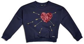 GUESS Sequin Heart Sweatshirt (7-16)