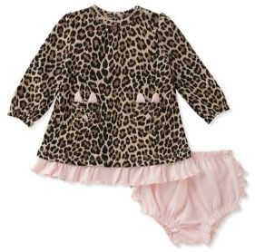 Kate Spade Baby Girl's Two-Piece Leopard Dress and Ruffled Bloomers Cotton Set