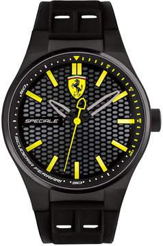 Ferrari Men's Speciale 3H Black Silicone Strap Watch 44mm 0830354