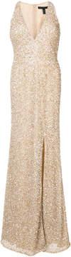 Aidan Mattox v-neck glitter gown
