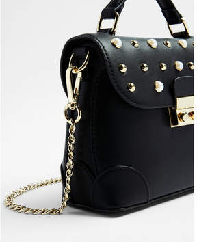 Express studded top handle cross body bag