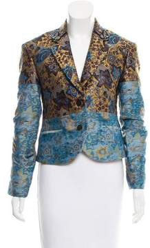 Creatures of the Wind Brocade Butterfly-Embroidered Blazer