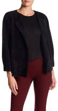 Adrienne Vittadini Pleated 3/4 Length Sleeve Cardigan