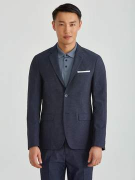 Frank and Oak The Laurier Micro Dot Cotton Blazer in Dark Navy