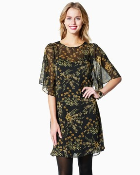 Charming charlie Floral Empire Chiffon Dress