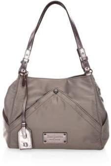 Eric Javits Peyton Microfiber& Leather Shoulder Bag